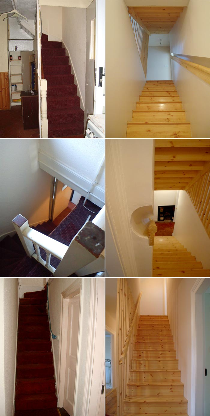 Staircases - Before and After