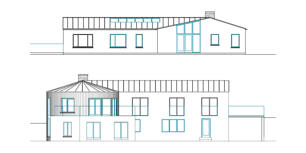 2-Storey House Extension To The Rear - Elevations