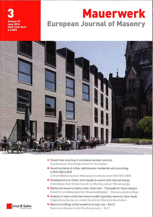European Journal of Masonry Mauerwerk June 2016 page 1
