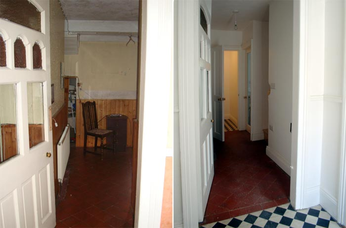 Entrance- Before and After